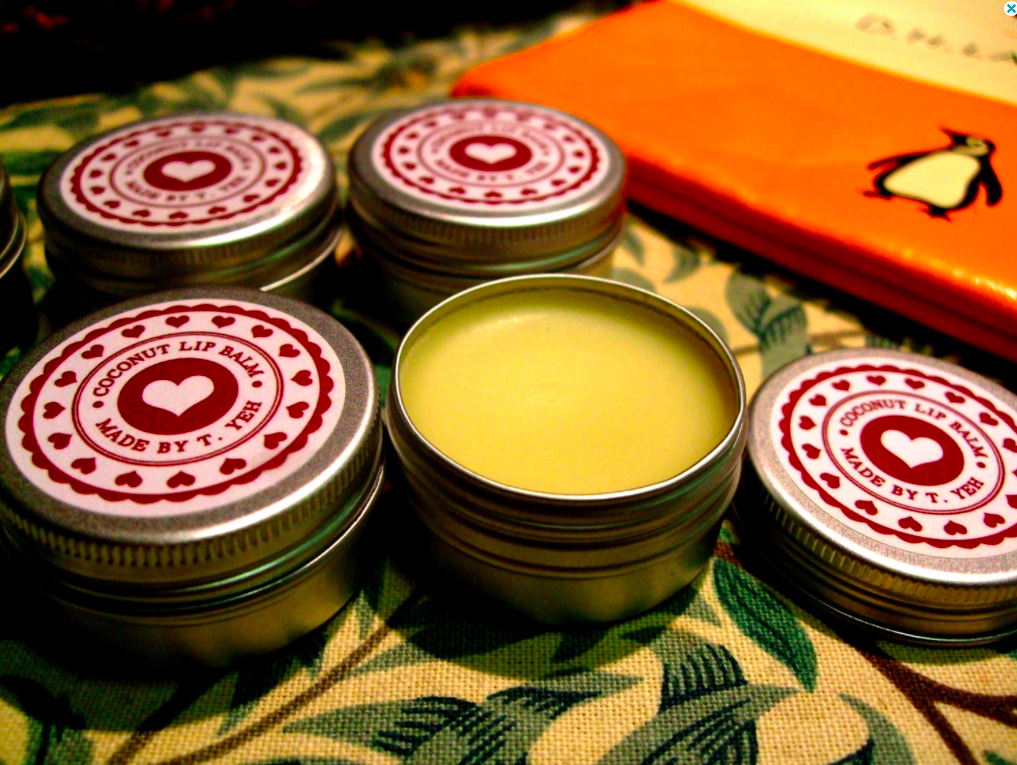 OhYEHs Handmade and all natural Coconut Lip Balm 15ml. Find it here.